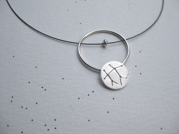 Zodiac Constellation Orbit Pendant