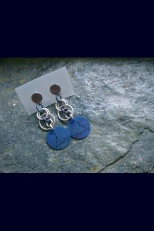 Zodiac Constellation Orb Chain Earrings