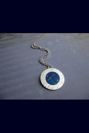 Southern Cross Pendant in Sterling Silver and Titanium